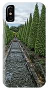 Conifer Lined Water Feature IPhone Case