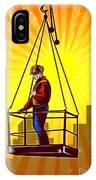 Construction Worker Platform Retro Poster IPhone Case