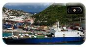 Container Ship St Maarten IPhone Case
