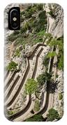 Contemplating Mediterranean Vacations - Via Krupp Capri Island Italy IPhone Case