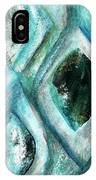 Contemporary Abstract- Teal Drops IPhone Case