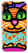 Contented Cat IPhone Case by Steven Scott