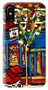 Conversation At St Viateur Bagel Paintings Mehadrin Kosher Deli Authentic Vintage Montreal Cspandau IPhone Case