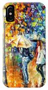 Conversation - Palette Knife Oil Painting On Canvas By Leonid Afremov IPhone Case