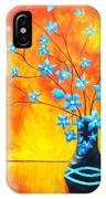 Cool Blue On Fire IPhone Case