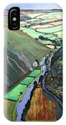 Coombe Valley Gate, Exmoor, 2009 Acrylic On Canvas IPhone Case