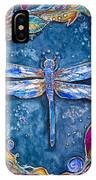 Copper Dragonfly IPhone Case