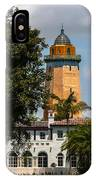 Coral Gables House And Water Tower IPhone Case