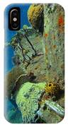 Coral Growth On A Ship Wreck IPhone Case