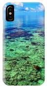 Coral Reef Near The Island At Peaceful Day. Maldives IPhone Case