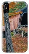 Corbin Covered Bridge Newport New Hampshire IPhone Case