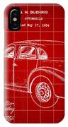 Cord Automobile Patent 1934 - Red IPhone Case