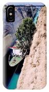 Corinth Canal Greece IPhone Case