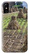 Corn Shocks Amish Field IPhone Case