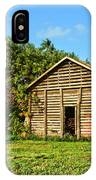 Corncrib In Afternoon Light IPhone Case