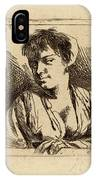 Cornelis Bega Dutch, 1631-1632-1664, Bust Of A Young Woman IPhone Case