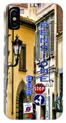 Corner Of Pensione And Bar IPhone Case