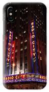 Corner Of Radio City Music Hall IPhone Case