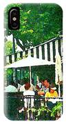 Corner Taverne Terrace French Paris Bistro Painting Sidewalk Cafe Wine Cheese Bar Montreal Cspandau  IPhone Case