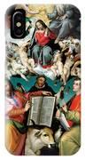 Coronation Of The Virgin With Saints Luke Dominic And John The Evangelist IPhone Case
