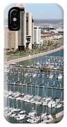 Corpus Christi Marina Aerial IPhone Case