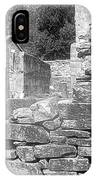 Cosley Mill Ruins In Black And White IPhone Case