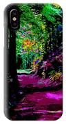 Cosmic Energy Of A Redwood Forest On Mt Tamalpais IPhone Case