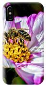 Cosmos Flower And Bee IPhone Case