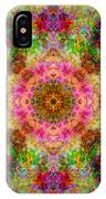 Cosmos Pink Sun Diamond Mandala IPhone Case