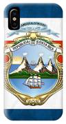 Costa Rica Coat Of Arms And Flag  IPhone Case