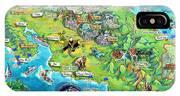 Costa Rica Map Illustration IPhone Case