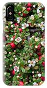Cotoneaster Bush Background IPhone Case