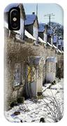 Cotswolds Cottages In Winter  IPhone Case