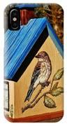 Cottage Birdhouse-back IPhone Case