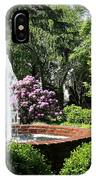 Cottage Garden Fountain IPhone Case