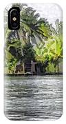 Cottage In The Midst Of Greenery IPhone Case