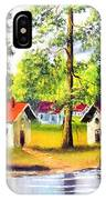 Cottages By The Lake IPhone Case