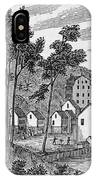 Cotton Factory Village, Glastenbury, From Connecticut Historical Collections, By John Warner IPhone Case