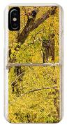 Cottonwood Fall Foliage Colors Rustic Farm Window View IPhone Case