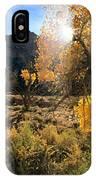 Cottonwoods In Buckhorn Wash 4055 IPhone Case