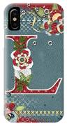 Country Charm Monogramed L IPhone Case