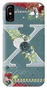 Country Charm Monogramed X IPhone Case