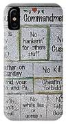 Country Commandments IPhone Case