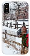 Country Holiday Cheer IPhone Case