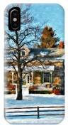 Country Home Watercolor IPhone Case