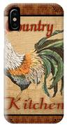 Country Kitchen Rooster IPhone Case