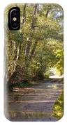Country Lane In Autumn 3 IPhone Case