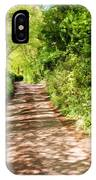 Country Lane Painting IPhone Case