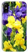 Country Road Irises  IPhone Case