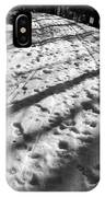 Country Road With Melting Snow In Early Spring IPhone Case